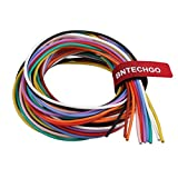 BNTECHGO 18 Gauge Silicone Wire Kit Ultra Flexible 10 Color High Resistant 200 deg C 600V Silicone Rubber Insulation 18 AWG Silicone Wire 150 Strands of Tinned Copper Wire Stranded Wire Battery Cable