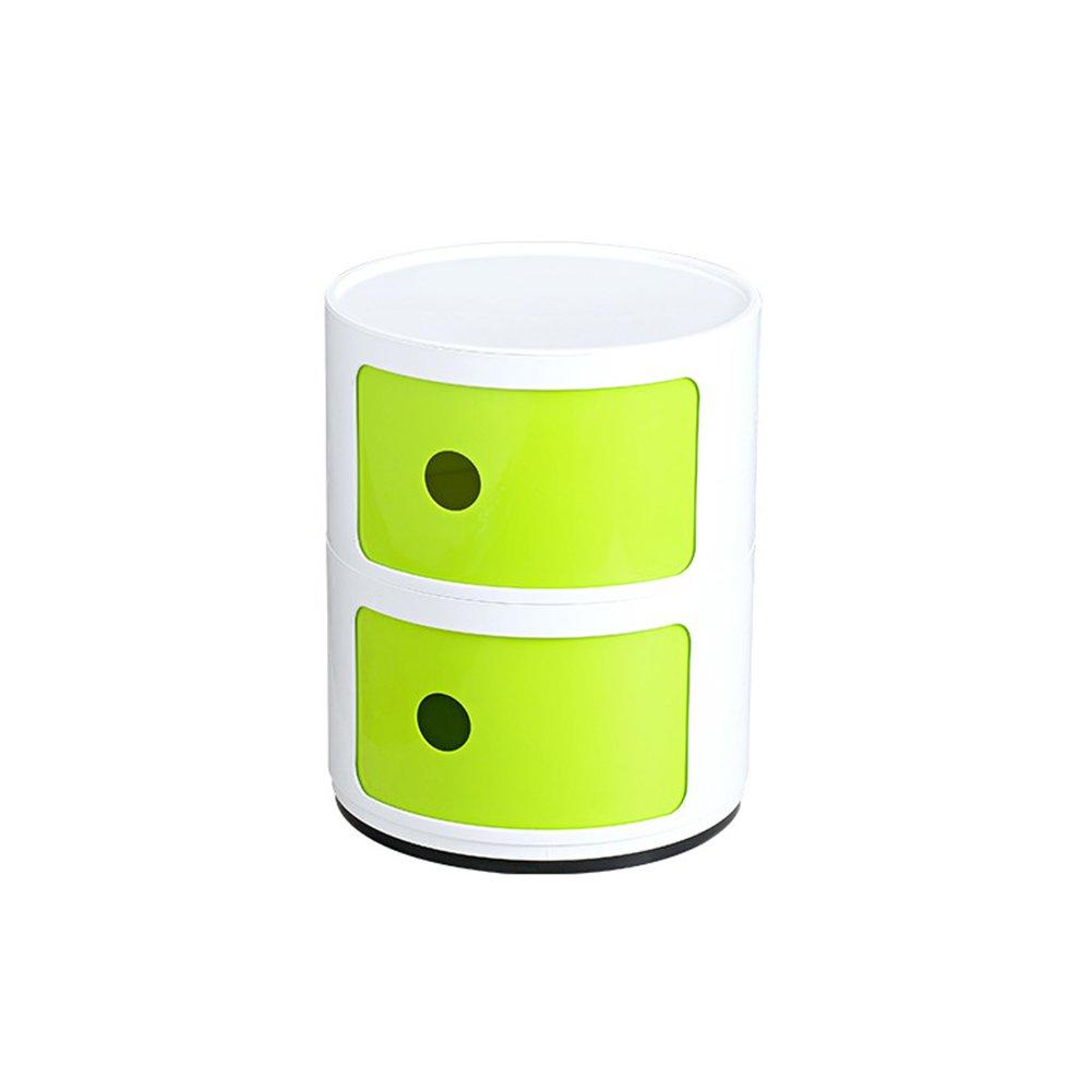 R Nightstands Plastic Lockers Bedroom Nightstand Round The Corner Cabinet Multifunctional Storage ( color   A )