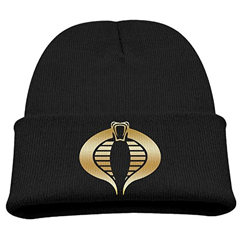 GI Joe Cobra Gold Logo Kids Skullies And Beanies Black