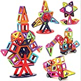 Frolk 44 Pieces Magnetic Building Blocks / Tiles Set for 3D Construction for Kids Age 3+