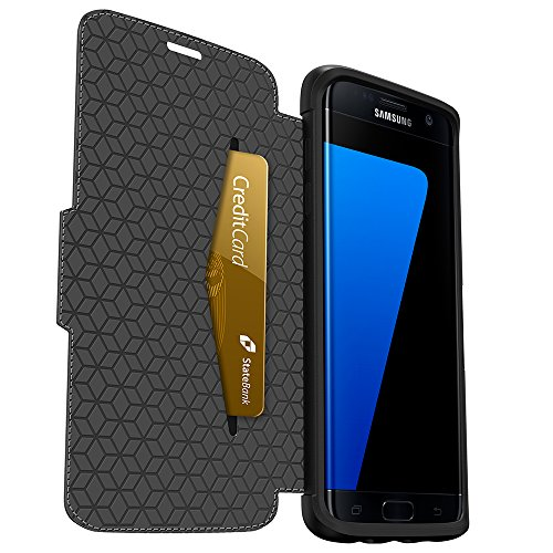 OtterBox STRADA SERIES Leather Wallet Case for Samsung Galaxy S7 Edge - PHANTOM (BLACK/BLACK LEATHER) by OtterBox (Image #1)