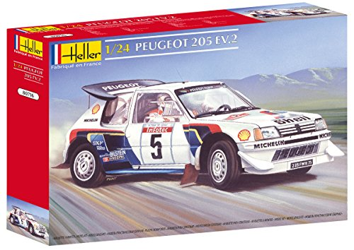 (Heller Peugeot 205 EV 2 Car Model Building Kit)