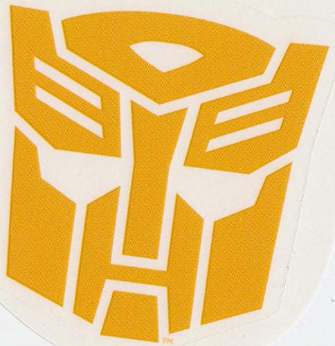 3 Inch Autobot Yellow Emblem Decal Symbol Badge Insignia Logo Transformers Robots Removable Peel Self Stick Adhesive Vinyl Decoration Wall Sticker Art Room Home Decor 2 1/2 x 2 1/2 Inch