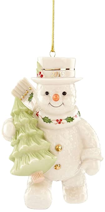 Amazoncom Lenox 2015 Happy Holidays Snowman China Ornament Home