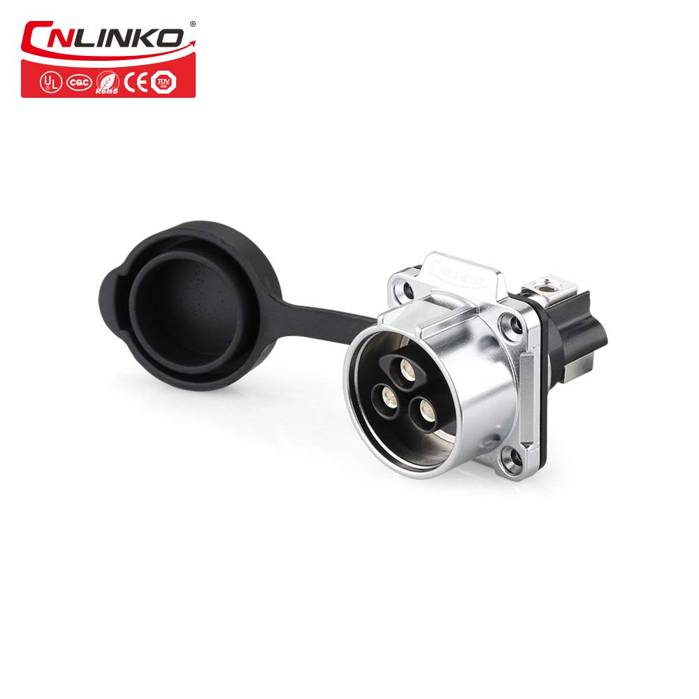CNLinko M28 50A Electric 14AWG 12AWG Power Waterproof IP67 Connector Plastic Screw Cable Circular Connector for Outdoor