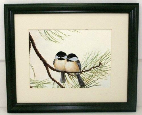 Audubon Chickadee Wildlife Bird Print 8 X 10 Wall (Audubon Birds Stained Glass)