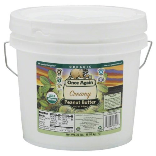 Once Again Organic Creamy Peanut Butter, Unsalted - 35 lbs by Once Again Nut Butter