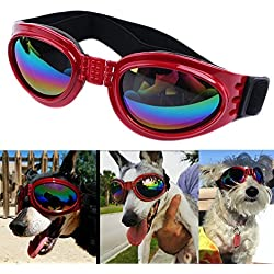 QUMY QUMY Dog Goggles Eye Wear Protection Waterproof Pet Sunglasses for Dogs About Over 15 Lbs