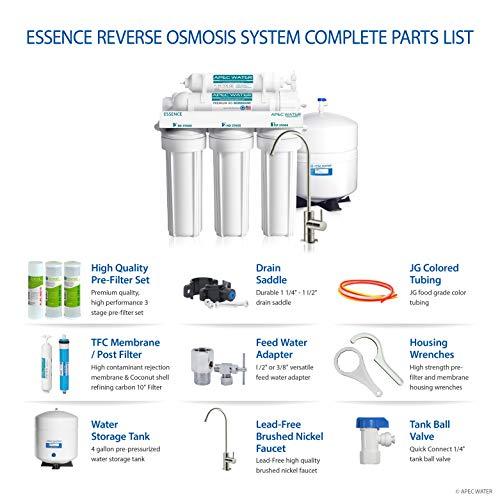 ارخص مكان يبيع APEC Top Tier 5-Stage Ultra Safe Reverse Osmosis Drinking Water Filter System (ESSENCE ROES-50)