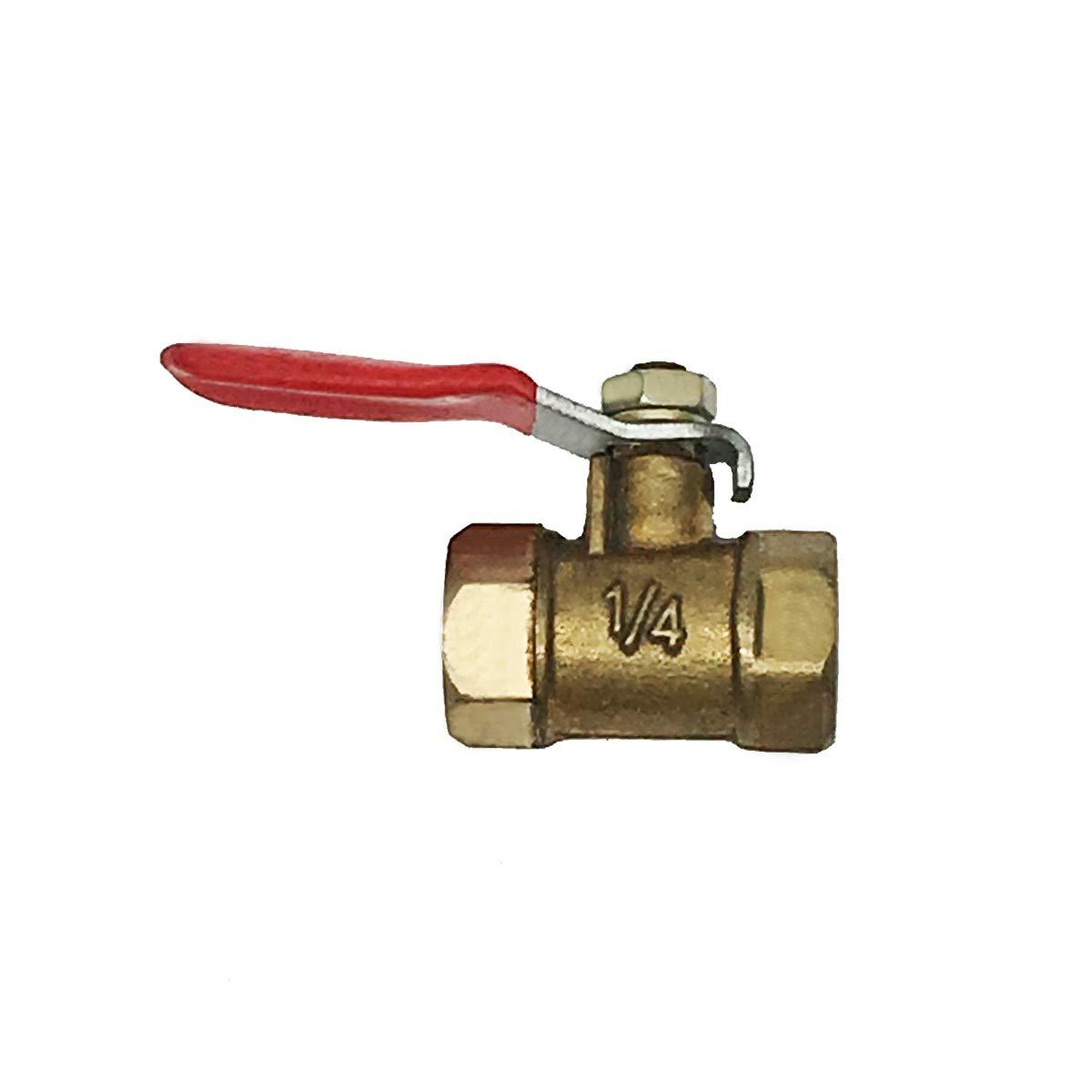 PEX CPVC Push-to-Connect PE-RT COMOK 5Pcs 1//4 Tubes Inline 12mm Thread Water Valve Shut Off Copper