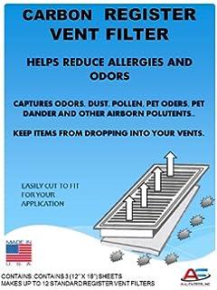Carbon Register Vent Air, Odor U0026 Dust Filters