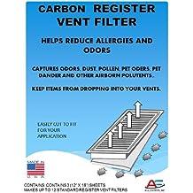 Carbon Register Vent Air, Odor & Dust Filters