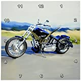 3dRose dpp_4842_1 LLC Harley-Davidson and No. 174 Motorcycle Wall Clock
