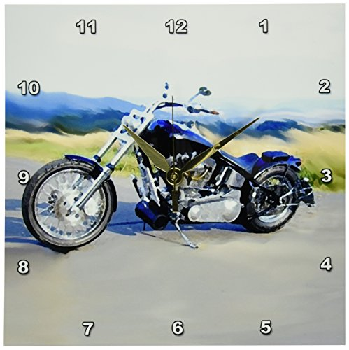 3dRose dpp_4842_1 LLC Harley-Davidson and No. 174 Motorcycle Wall Clock For Sale