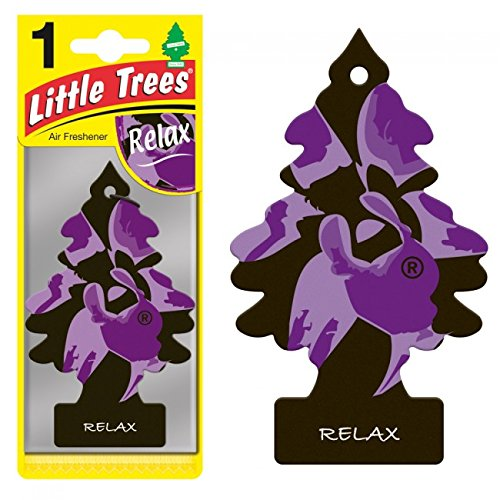 LITTLE TREES Car Air Freshener | Hanging Paper Tree for Home or Car | Relax | 24 ()