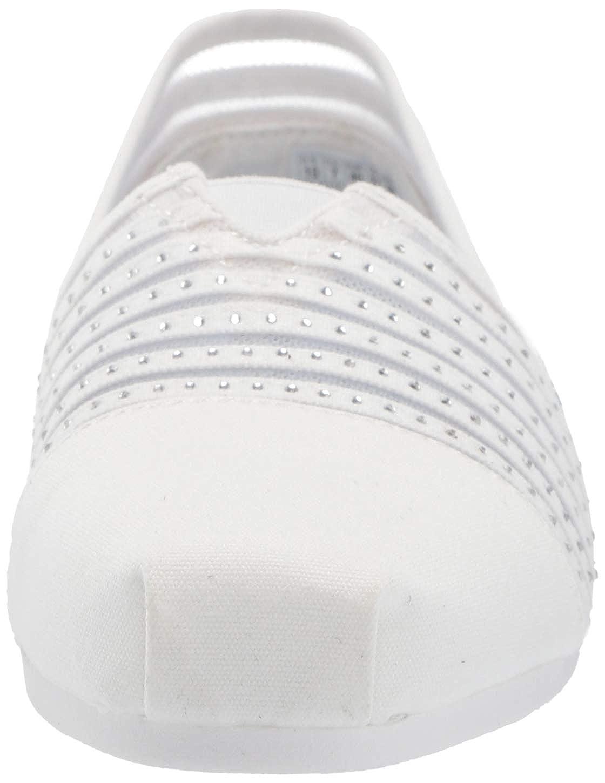 Skechers33415 - Bobs Plush - Glow Squad. Canvas, Strass, Netz, zum Reinschlüpfen Damen Weiß