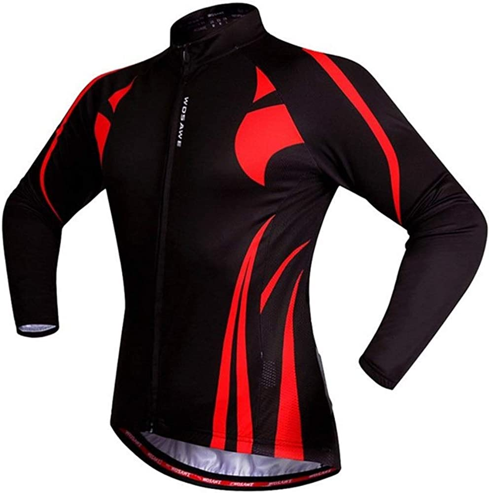 HESANYU CA Mountain Bike Riding Road Bike Long Sleeve Shirt Bicycle Breathable Long Sleeve Riding Suit