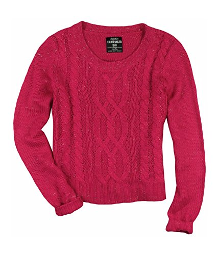 - Ecko Unltd. Womens Open Neck Cable Knit Pullover Sweater Pink L