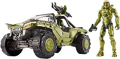 """Halo 12"""" Warthog Vehicle and Master Chief Figure"""