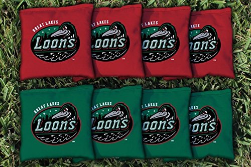 Milb Baseball Great Lakes Loons Unisex 1057552Cornhole Bag Set (All Weather), Multicolor, One Size by Victory Tailgate