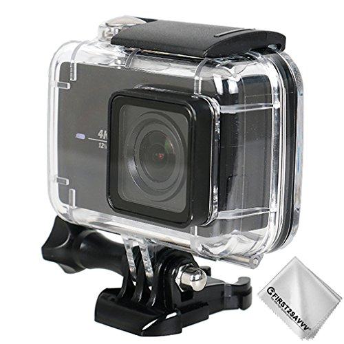 First2savvv 30m buceo caso cubierta impermeable submarina con lente de cristal Xiaomi Yi 4K+ .Yi Discovery .Yi Lite .Yi 4K...