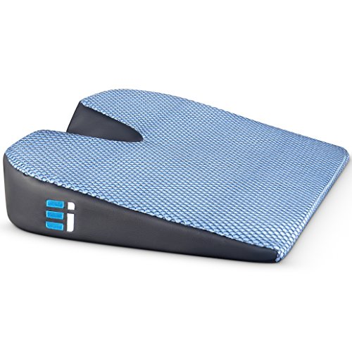 (Memory Foam Car Seat Cushion: Breathable, Non Slip, Dual Layer Memory and Polyurethane Lumbar Support Pad; Orthopedic, Coccyx, Pelvic, and Sciatica Pain Relief Wedge for Cars Trucks and Office Chairs)