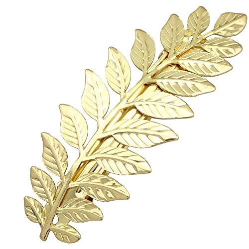 Q&Q Fashion Festival Bridal Gold Leaf Branch French Updo Hair Pin Clip Dress Snap Barrette