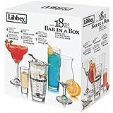 Bar in Box Jogo com 18 Peças com Copos e Taças para Bebidas Libbey Transparente
