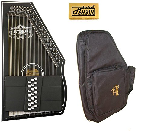 Oscar Schmidt 1930's Reissue Original Design Autoharp w/ Gig Bag, Black, OS73C by Oscar Schmidt