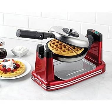 Nostalgia RFW600 Retro Series Non-Stick Flip Belgian Waffle Maker