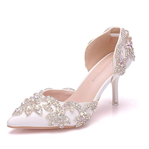 6cdeee5173d Amazon.com | Crystal Queen 3 inches Women High Heel Sandals Thin ...