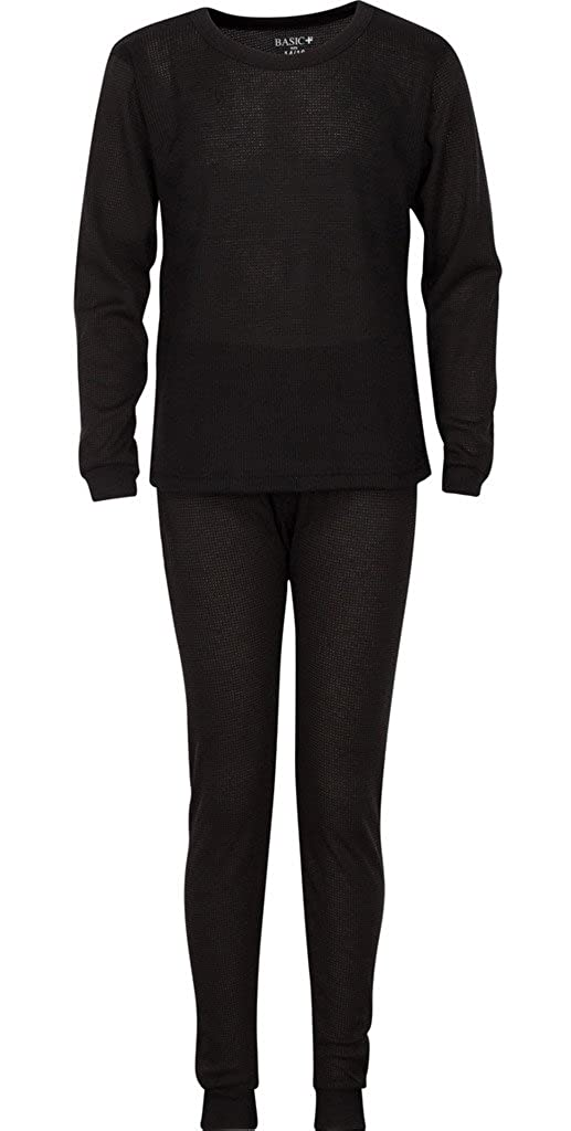 Premium Boys Thermal Underwear Set Warm /& High Moisture Wicking Waffle Knit