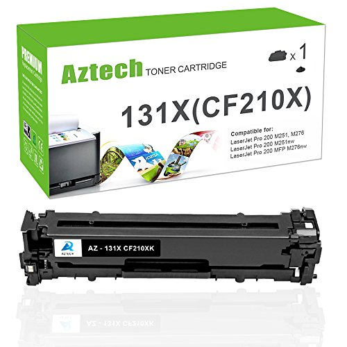 Aztech Cf210A Compatible Toner Cartridge Replacement for HP 131A Toner HP 131X Toner Cartridge CF210X HP LaserJet 131A Toner laser jet 131A Cf210A Toner ink Printer Black (Hp Laserjet Pro 200 Color Printer)
