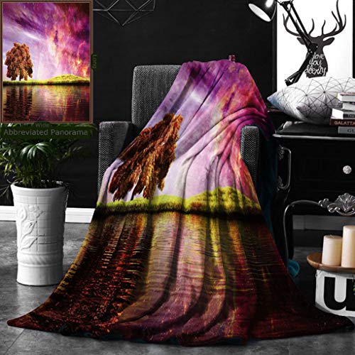 Unique Custom Double Sides Print Flannel Blankets Magic Collection Supernatural Sky Scenery With Mystical Northern Solar Lights And Super Soft Blanketry for Bed Couch, Throw Blanket 50 x 60 Inches by Ralahome