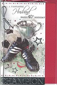 Marido 40th Tarjeta de cumpleaños~cumplas 40~tu marido es hoy el mejor tarjeta