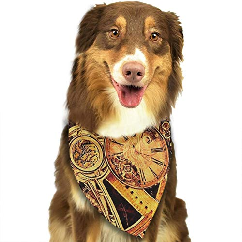 - NOWDIDA Dog Bandana Cool Steampunk Gears Pet Scarf Triangle Bibs Kerchief Set Pet Costume Accessories Decoration for Small Medium Large Dogs Cats Pets