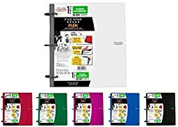 Five Star Flex NoteBinder, 1.5-Inch Capacity, 11.5 x 11.25 Inches, Notebook and Binder All-in-One, Assorted Colors