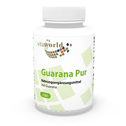 Guaraná Puro 500mg 120 Cápsulas - Vita World Producción en Farmacia en Alemania