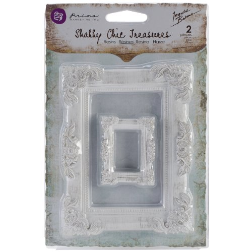 Prima Marketing Shabby Chic Treasures Resin, Baroque Frames, 2-Pack