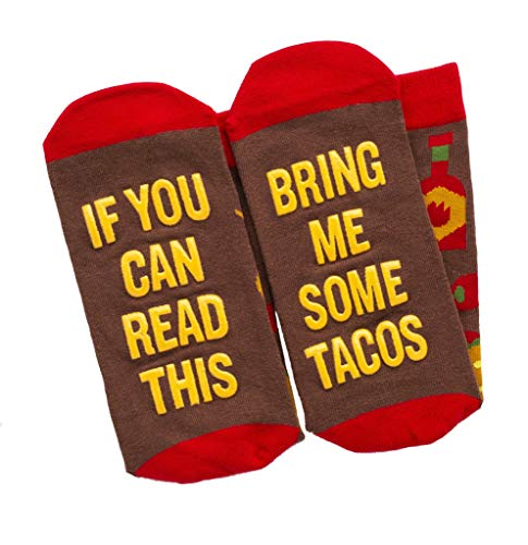 Lavley - Mens Novelty Socks - If You Can Read This Bring Me Some Tacos (Taco)