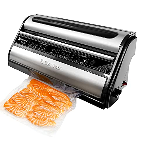 Vacuum Sealer Machine, Automatic Food Saver Vacuum Sealer Machine for Food Preservation, Dry & Moist Food Modes, Easy to…