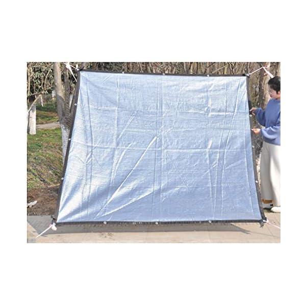 VN Ombra Bianca Parasole Panno Parasole Rete di Alluminio Foglio pianta grassa Riflettente Gazebo Protezione Solare… 5 spesavip