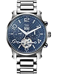 TSS Mens Automatic Skeleton Watch with Stainless Steel Band T8031T2
