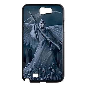 C-EUR Diy Phone Case Grim Reaper Pattern Hard Case For Samsung Galaxy Note 2 N7100