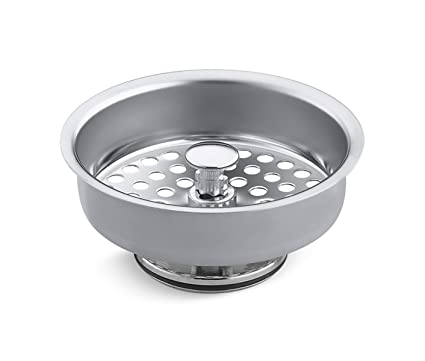 Polished Chrome New Gift Plumbing KOHLER K-8803-CP Duostrainer Basket Strainer