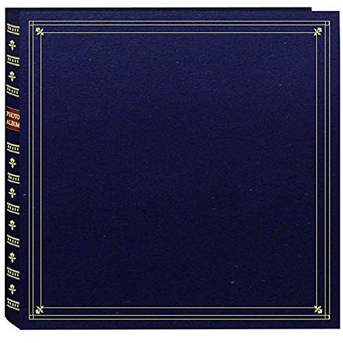 Pioneer Photo Albums Pioneer Large Format Navy Blue with Gold Accents Cover Memo Album with 120 Bonus Pockets