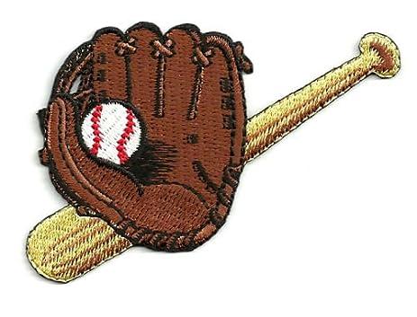 Baseball - Baseball Glove/bat & Ball Fully Embroidered Iron on Patch Cool  Patch Iron