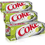 Diet Coke with Lime Fridgepack Bundle, 12 Ounce (Pack of 36)