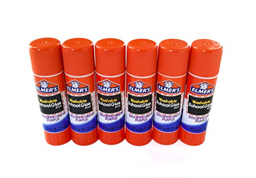 Elmer's Washable School Glue Stick Disappearing Purple (.77 Ounce, Set of 6) by Elmer's