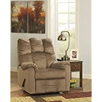 Flash Furniture Signature Design by Ashley Raulo Rocker Recliner in Mocha Fabric